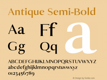 Antique Semi-Bold 0.1.0图片样张