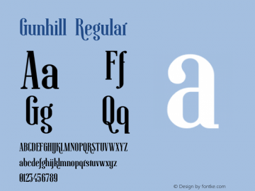 Gunhill Regular Version 1.004;Fontself Maker 3.0.2图片样张