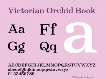 VictorianOrchidBook Version 1.000;PS 001.000;hotconv 1.0.88;makeotf.lib2.5.64775;YWFTv17图片样张