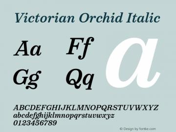 VictorianOrchidItalic Version 1.000;PS 001.000;hotconv 1.0.88;makeotf.lib2.5.64775;YWFTv17图片样张