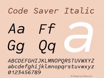 CodeSaverItalic Version 1.000;PS 001.000;hotconv 1.0.88;makeotf.lib2.5.64775;YWFTv17图片样张