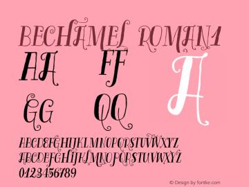 Bechamel-Roman1 Version 1.000;PS 001.000;hotconv 1.0.88;makeotf.lib2.5.64775图片样张