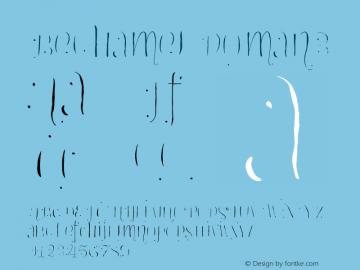Bechamel-Roman3 Version 1.000;PS 001.000;hotconv 1.0.88;makeotf.lib2.5.64775图片样张