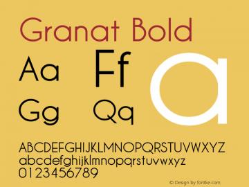 Granat Bold Version 1.00;December 6, 2018;FontCreator 11.5.0.2422 64-bit图片样张