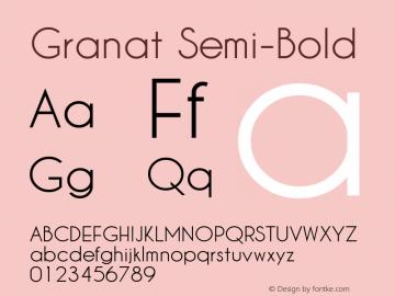 Granat Semi-Bold Version 1.00;December 6, 2018;FontCreator 11.5.0.2422 64-bit图片样张