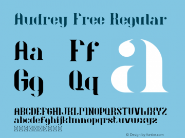 Audrey Free Version 1.002;Fontself Maker 3.0.0图片样张
