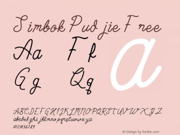 Simbok Pudjie Free Version 1.002;Fontself Maker 3.0.0-3图片样张