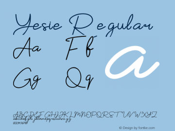 Yesie Version 1.002;Fontself Maker 3.0.0-3图片样张