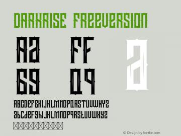 DARKRISE FreeVersion Version 1.002;Fontself Maker 3.0.2图片样张