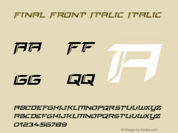 Final Front Italic Version 1.0; 2019图片样张