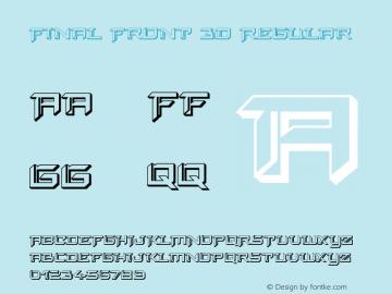 Final Front 3D Version 1.0; 2019图片样张
