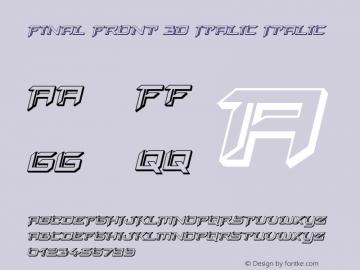 Final Front 3D Italic Version 1.0; 2019图片样张