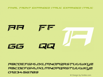 Final Front Expanded Italic Version 1.0; 2019图片样张