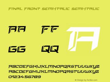 Final Front Semi-Italic Version 1.0; 2019图片样张