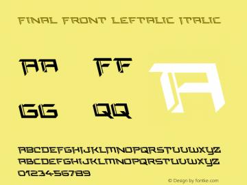 Final Front Leftalic Version 1.0; 2019图片样张
