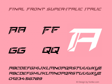 Final Front Super-Italic Version 1.0; 2019图片样张