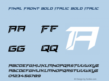Final Front Bold Italic Version 1.0; 2019图片样张