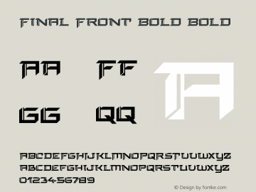 Final Front Bold Version 1.0; 2019图片样张