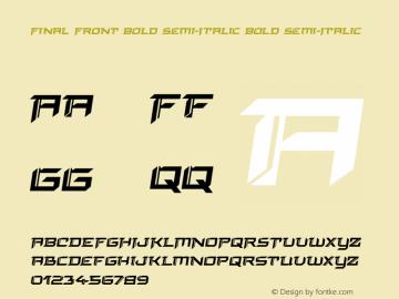 Final Front Bold Semi-Italic Version 1.0; 2019图片样张