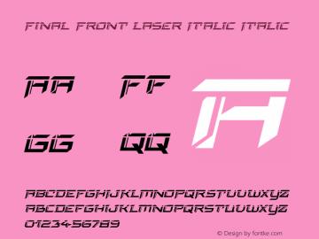 Final Front Laser Italic Version 1.0; 2019图片样张