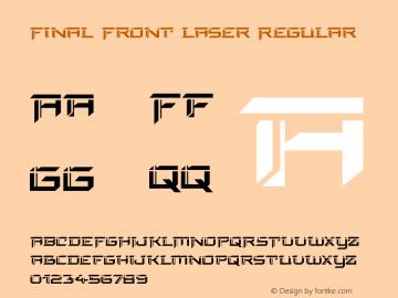 Final Front Laser Version 1.0; 2019图片样张
