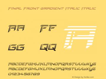 Final Front Gradient Italic Version 1.0; 2019图片样张