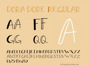 doradore-Regular Version 1.000图片样张