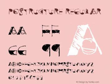 Postructure Version 1.00;January 8, 2019;FontCreator 11.5.0.2430 64-bit图片样张