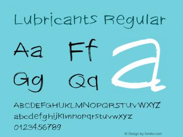 Lubricants Version 1.00;January 8, 2019;FontCreator 11.5.0.2430 64-bit图片样张