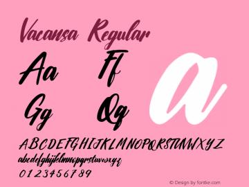 Vacansa Version 1.002;Fontself Maker 3.0.2图片样张