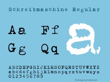 Schreibmaschine Version 1.002;Fontself Maker 3.0.2图片样张