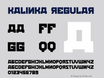 Kalinka Regular Version 1.000图片样张