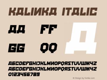 Kalinka Italic Version 1.000图片样张
