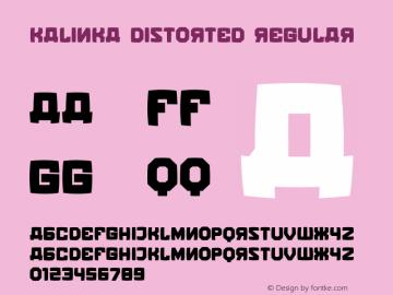 Kalinka Distorted Regular Version 1.000图片样张