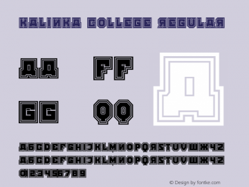 Kalinka College Regular Version 1.000图片样张