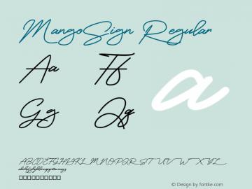 MangoSign Version 001.000图片样张