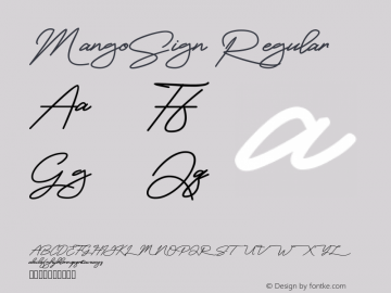 MangoSign Version 001.000图片样张
