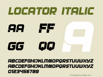 Locator Italic Version 1.000图片样张