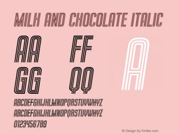 Milk and Chocolate Italic Version 1.000图片样张