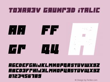 Tokarev Grunged Italic Version 1.000图片样张