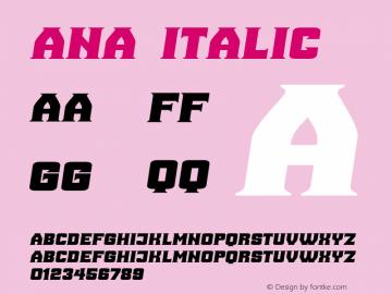 Ana Italic Version 1.000图片样张