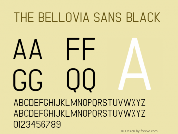 The Bellovia Sans Version 1.0图片样张