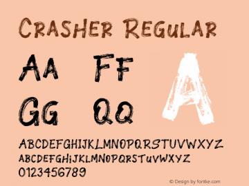 Crasher Version 1.00;January 11, 2019;FontCreator 11.5.0.2430 64-bit图片样张