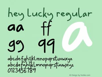 Hey Lucky Version 1.003;Fontself Maker 3.1.1图片样张