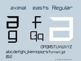 Maximal Beasts Regular Unknown Font Sample