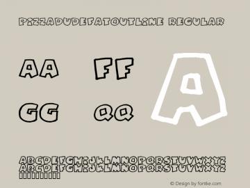 PizzaDudeFatOutline Regular 2 Font Sample