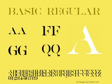 BASIC Version 1.00;January 16, 2019;FontCreator 11.5.0.2427 64-bit图片样张