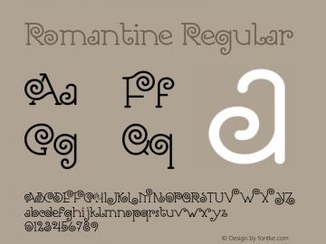 Romantine Version 1.00;January 16, 2019;FontCreator 11.5.0.2427 64-bit图片样张