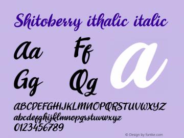 Shitoberry ithalic Version 1.000图片样张