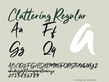 Clattering Version 1.002;Fontself Maker 3.1.1图片样张
